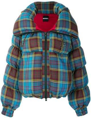 House of Holland tartan puffer jacket