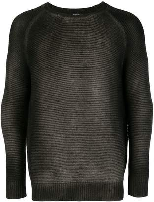 Avant Toi gradient ribbed sweater