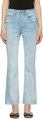 Helmut Lang Blue High-Rise Crop Jeans $310 thestylecure.com