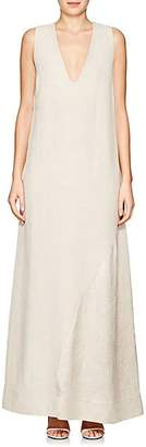 Nomia Women's Crushed Reverse-Satin Gown - Beige/Tan Size 8