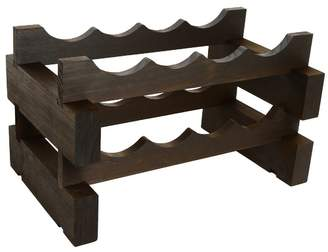2 Layers of 4 Bottles Wine Rack Finish: Matte Stain