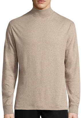 ST. JOHN'S BAY Long-Sleeve Mockneck Shirt
