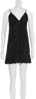Anna Sui Velvet Mini Dress Black Velvet Mini Dress