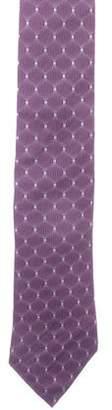 Lanvin Geometric Print Silk Tie