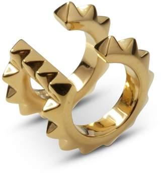 Kasun - Croc Double Ear Cuff Yellow Gold