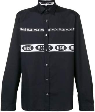 McQ branded stripe shirt