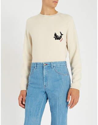 Gucci Shark intarsia cashmere jumper