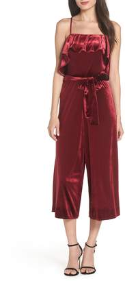 AVEC LES FILLES Velvet Cropped Jumpsuit
