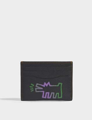 Coach Flat Card Case in Black Leather