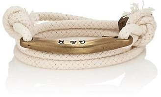 Giles and Brother Men's Rope Wrap Bracelet - White