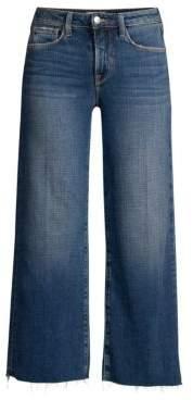 L'Agence Danica Side Stripe Denim Culottes