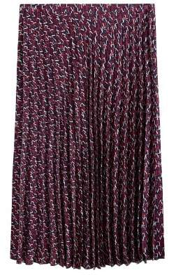 MANGO Violeta BY Printed pleated skirt