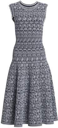 Alaia Labyrinth Sleeveless A-Line Dress