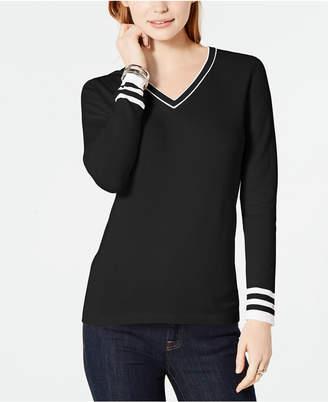 Tommy Hilfiger Cotton V-Neck Sweater
