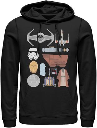 Star Wars Licensed Character Men's Graphic Hoodie