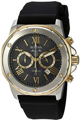 Bulova Men's Quartz Stainless Steel and Silicone Casual Watch