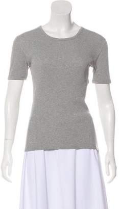 Acne Studios Rib Knit Short Sleeve Top