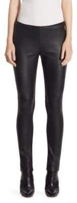 Akris Punto Leather Jersey Pants