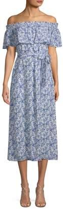 Rebecca Taylor Women's Aimee Off-The-Shoulder Midi Dress