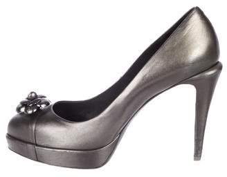 Chanel Camellia Platform High Heel Pumps