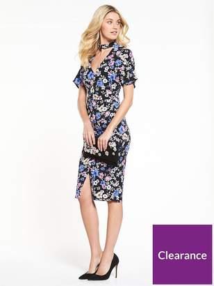 Very Workwear Printed Wiggle Dress - Floral Print