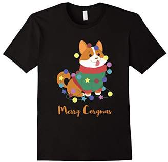 Corgi Merry Corgimas Dog Pun Christmas Funny T-Shirt