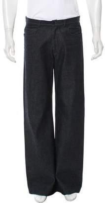 Saint Laurent Five Pocket Wide Leg Jeans