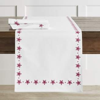 Williams-Sonoma Williams Sonoma Snowflake Embroidered Table Runner