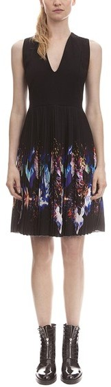 Sandro 'Repli' Pleated A-Line Dress