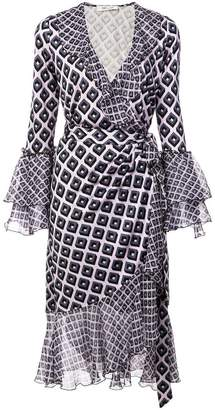 Diane von Furstenberg retro print wrap dress