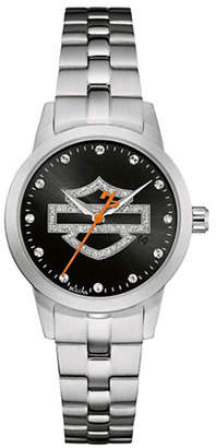 Harley-Davidson Shaped Cuff Stainless Steel Analog Watch