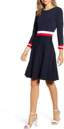 Tommy Hilfiger Fit & Flare Sweater Dress