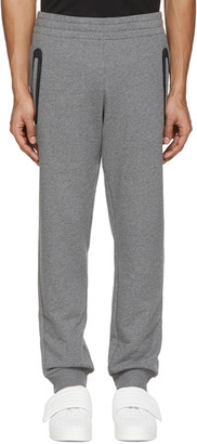 Versace Underwear Grey Mesh-Trimmed Lounge Pants $550 thestylecure.com