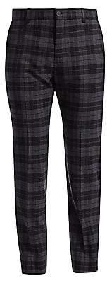 Balenciaga Men's Tailored Plaid Pants