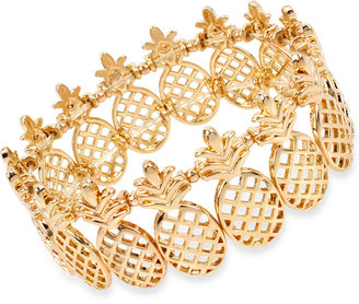 M. Haskell for INC International Concepts Gold-Tone Pineapple Stretch Bracelet, Only at Macy's $26.50 thestylecure.com