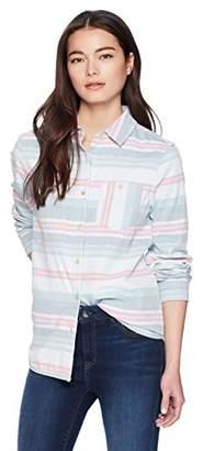 Pendleton Women's Petite Reversible Serape Stripe Cotton Shirt