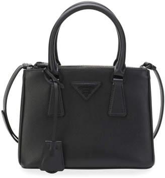 Prada Saffiano Small Dual-Zip Satchel Tote Bag