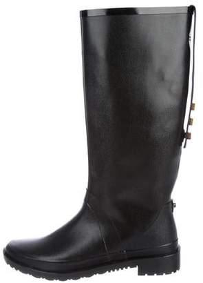 Stuart Weitzman Semi Pointed-Toe Rubber Boots