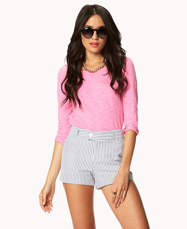 Forever 21 Essential Seersucker Shorts