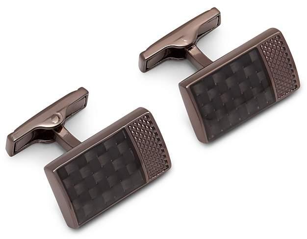 Ted Baker Bogard Carbon Fiber Cufflinks