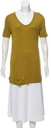Alexander Wang Short Sleeve V-Neck Top