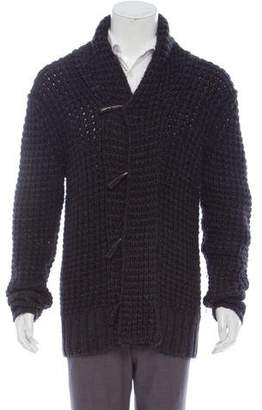 John Varvatos Wool & Alpaca-Blend Hooded Cardigan