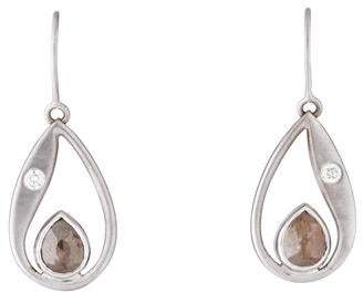 Lisa Des Camps 18K Diamond Paisley Earrings