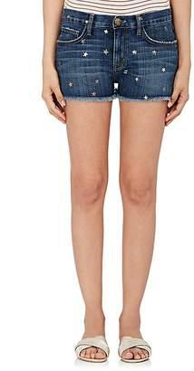 Current/Elliott Women's Star-Print Boyfriend Shorts