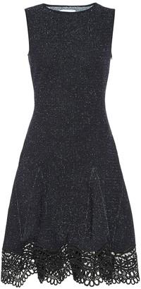 Oscar de la Renta Guipure lace-trimmed tweed dress