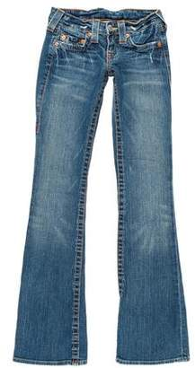 True Religion Low-Rise Flared Jeans