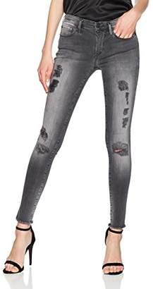True Religion Women's Halle Superstretch Skinny Jeans, (Black Denim 0005), 28W x 32L