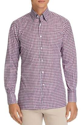Canali Checked Regular Fit Sport Shirt