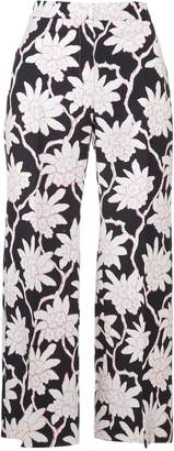 Valentino Floral Cropped Trousers