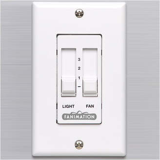 Fanimation Sliding Light and Ceiling Fan Wall Remote Control in White